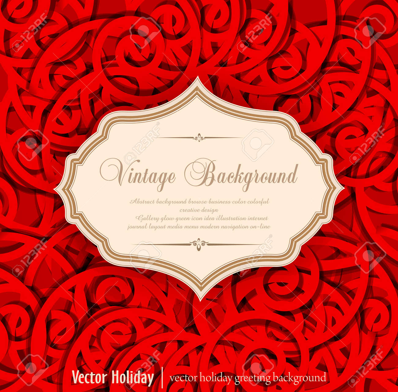 red, holiday, vintage background Stock Vector - 12866894
