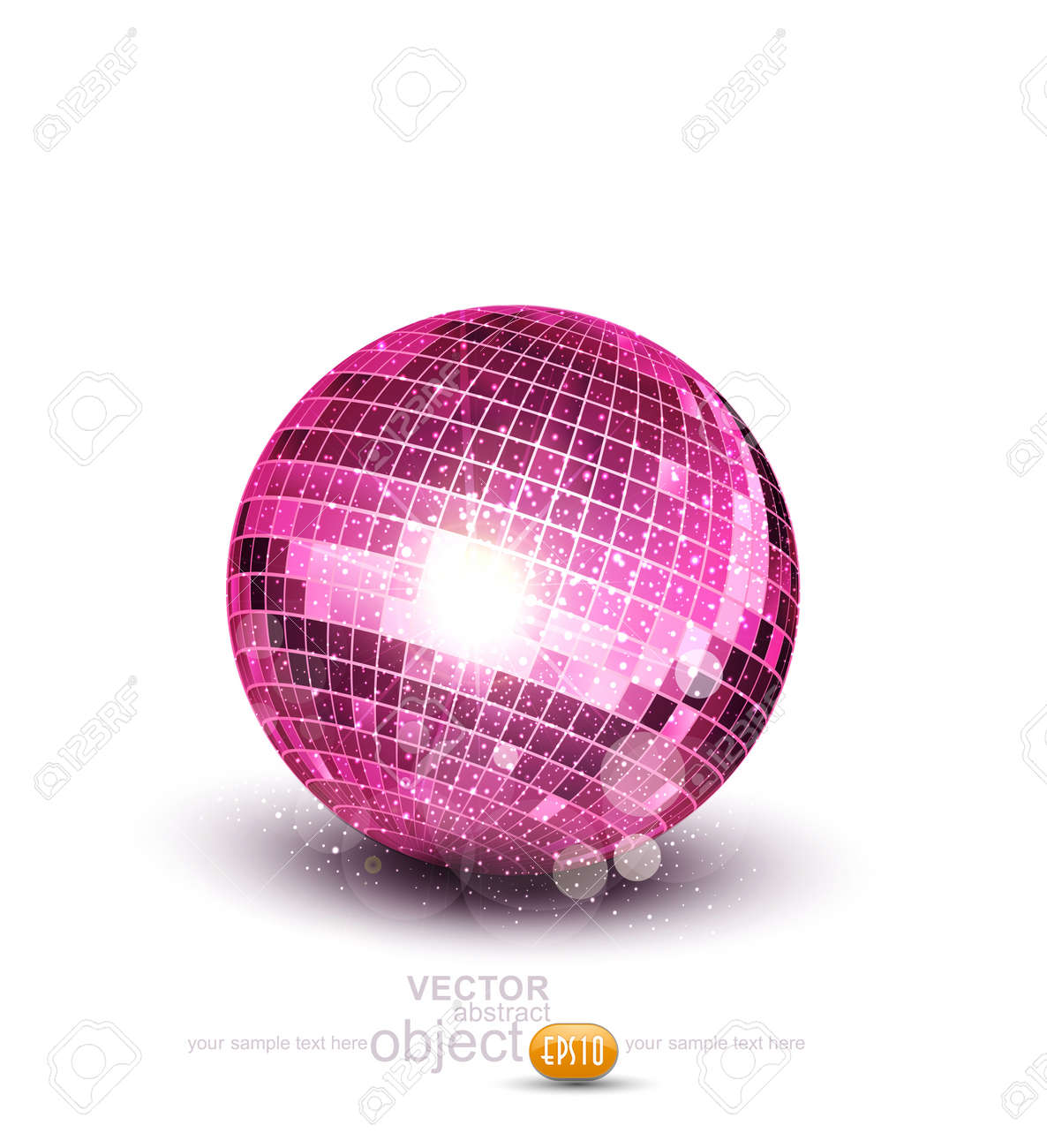 Vector pink disco ball on a white background Stock Vector - 17772222
