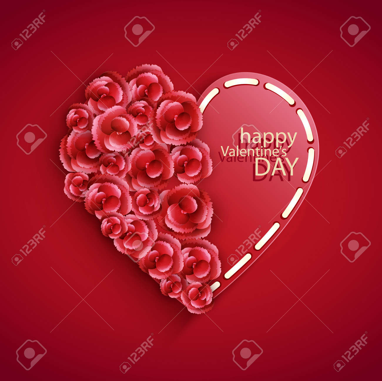 hearts for Valentine Stock Vector - 25310345