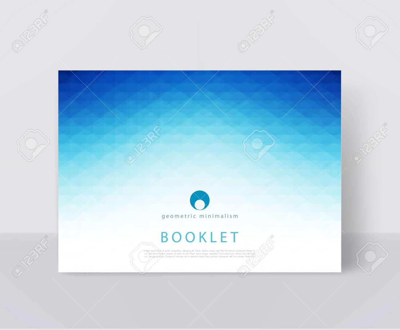 Illustration Vectorielle D Un Modèle De Brochure Bleue Brochure Moderne Dépliant Rapport D Activité De Couverture éléments Géométriques