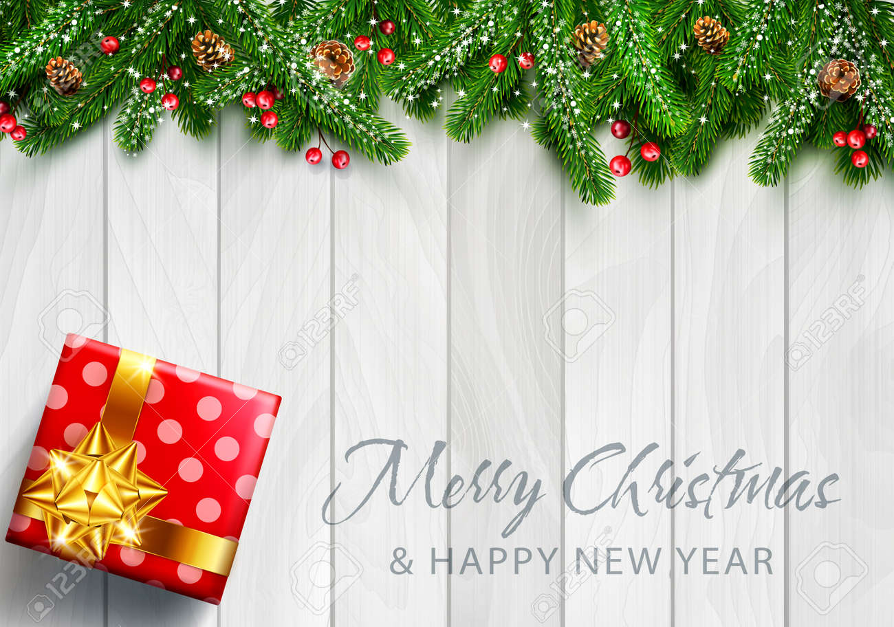 Vector Illustration For Merry Christmas And Happy New Year ...