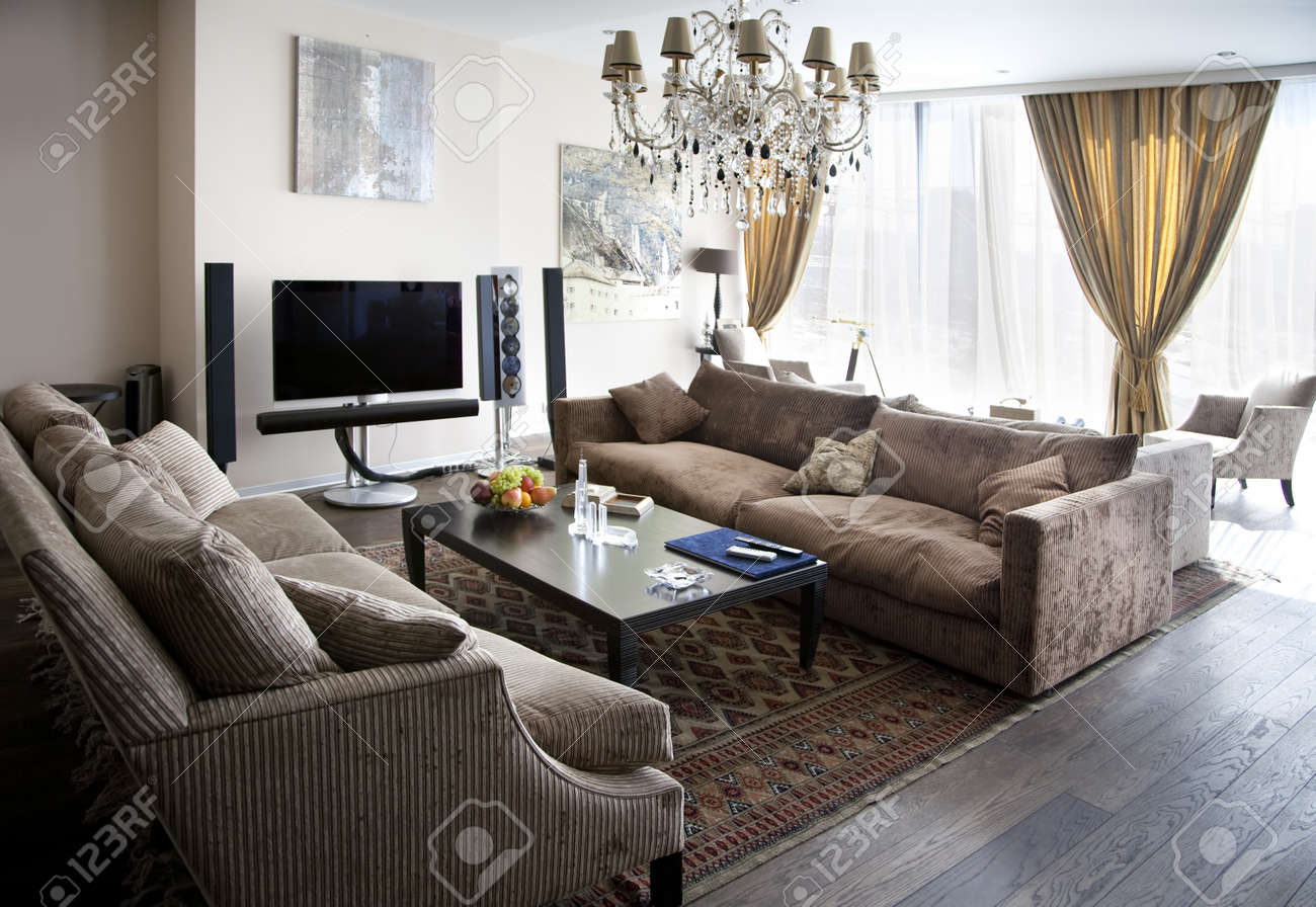 Interior shot of a modern lounge room Stock Photo - 9502484