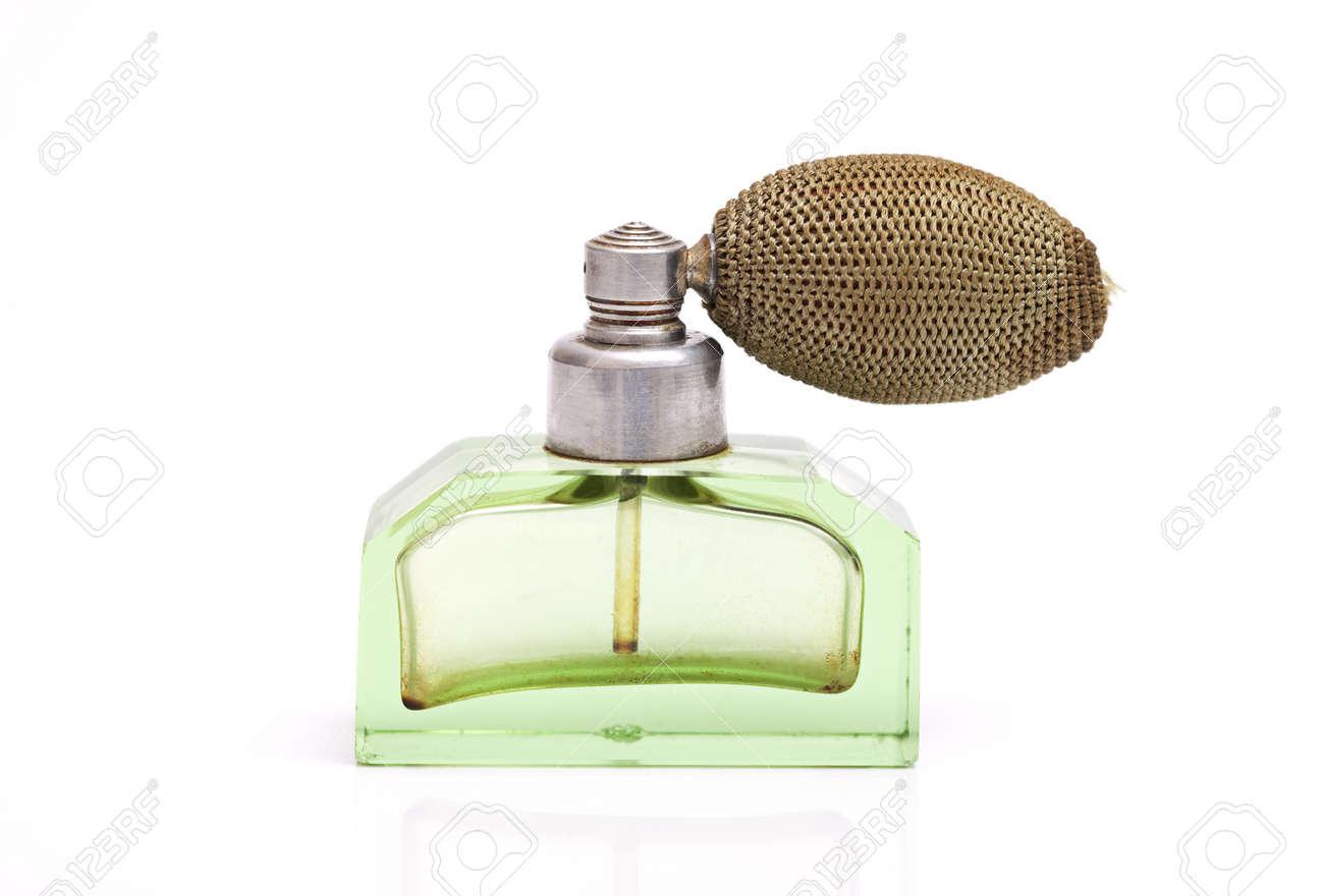 Studio shot of a vintage perfume bottle isolated on white - 13283029