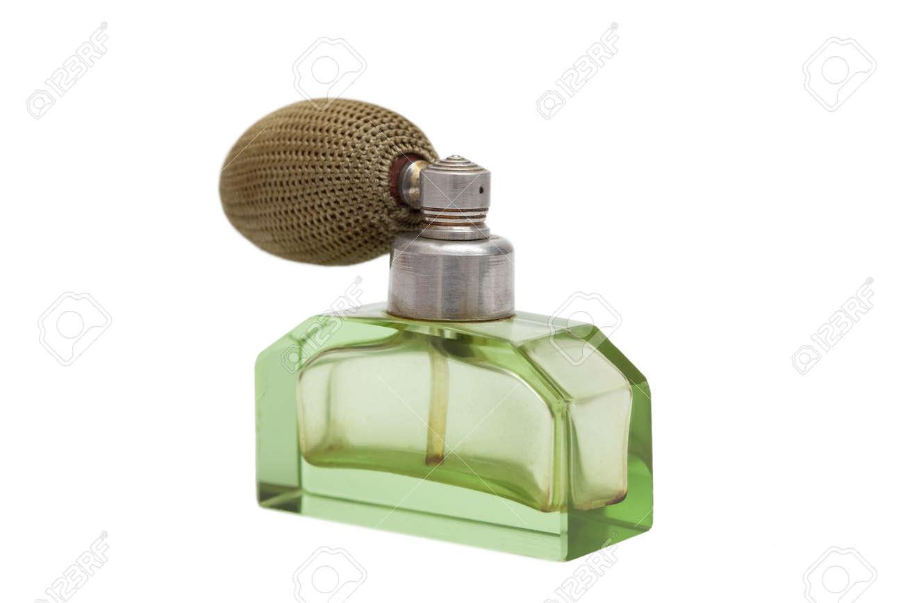Studio shot of a vintage perfume bottle isolated on white - 13411138