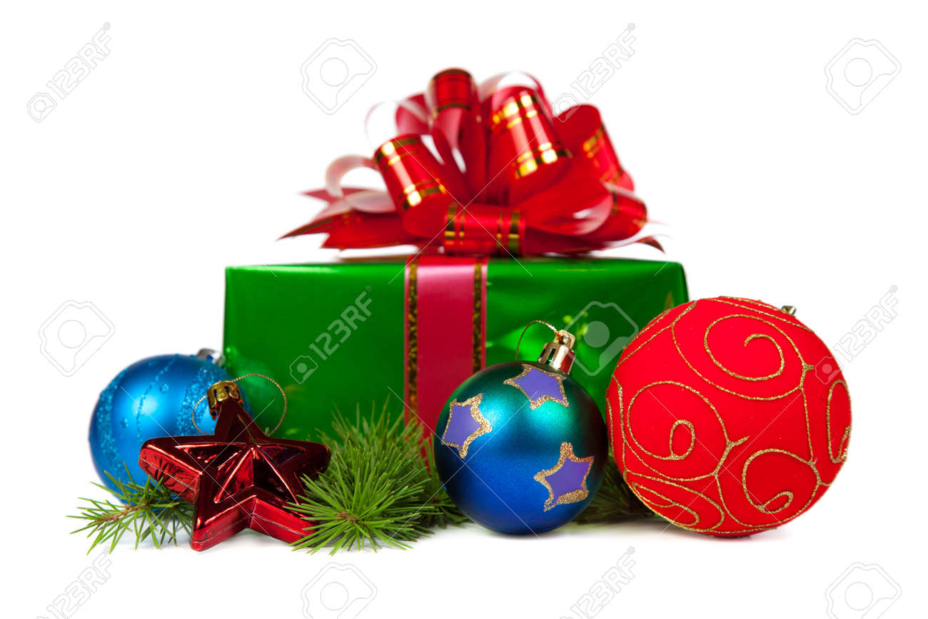 Christmas gifts. Isolated on white background Stock Photo - 11106014