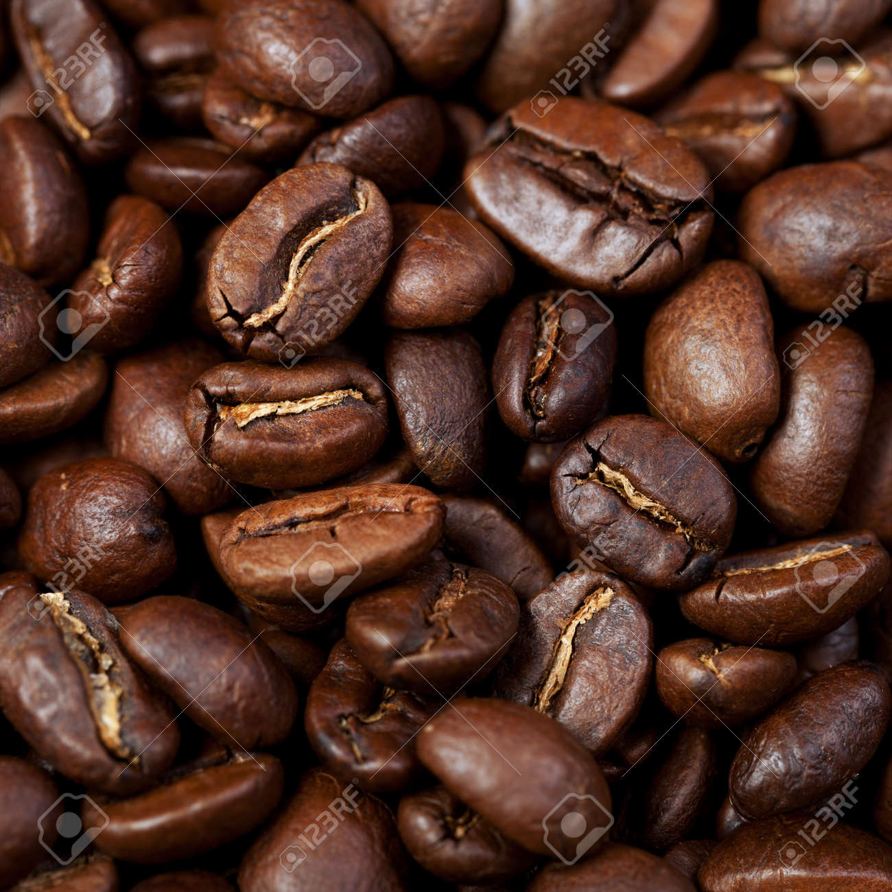 Background of roasted coffee grain Stock Photo - 17560633