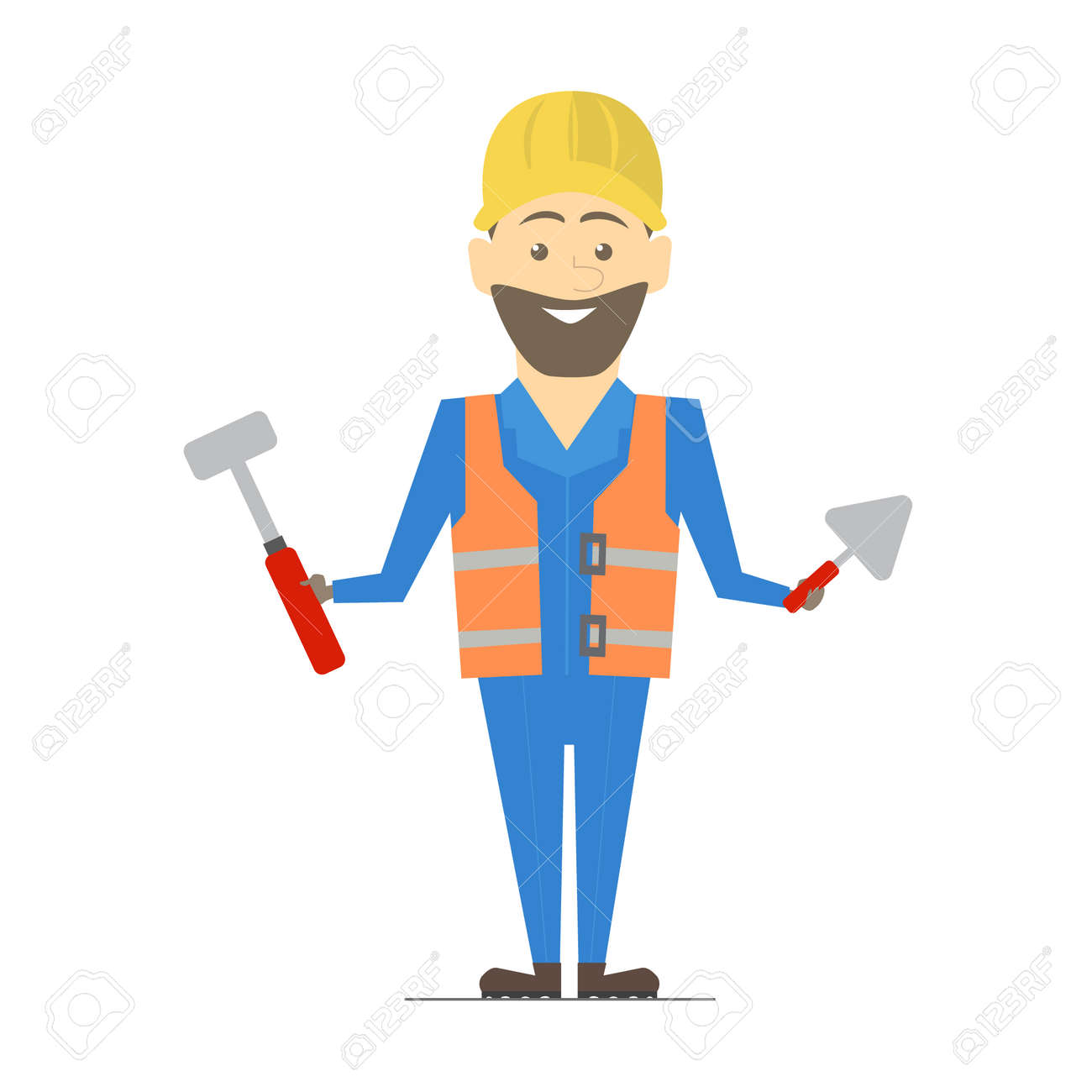 builder man working architecture vector construction work royalty rh 123rf com
