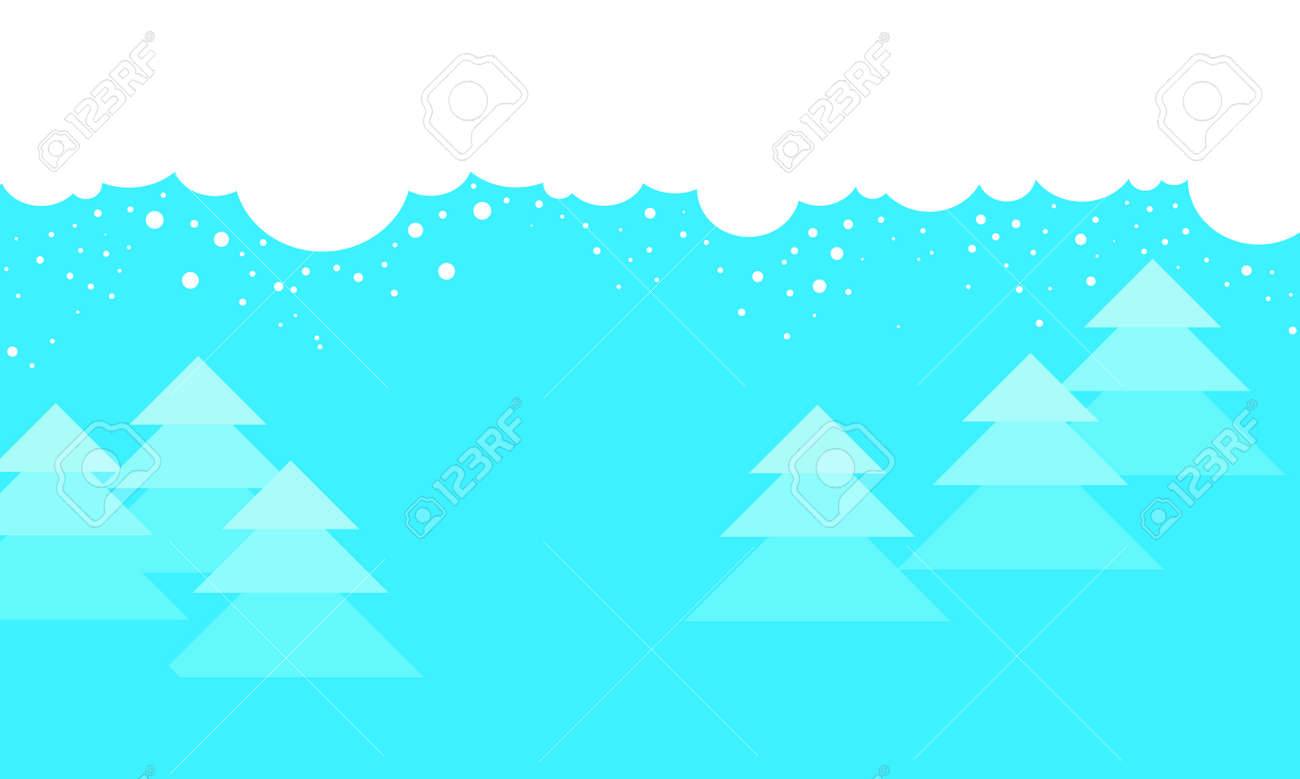 christmas background winter cartoon landscape for website