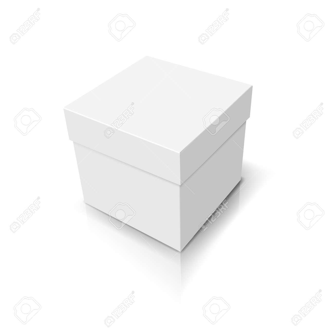 White closed box Stock Vector - 18957075
