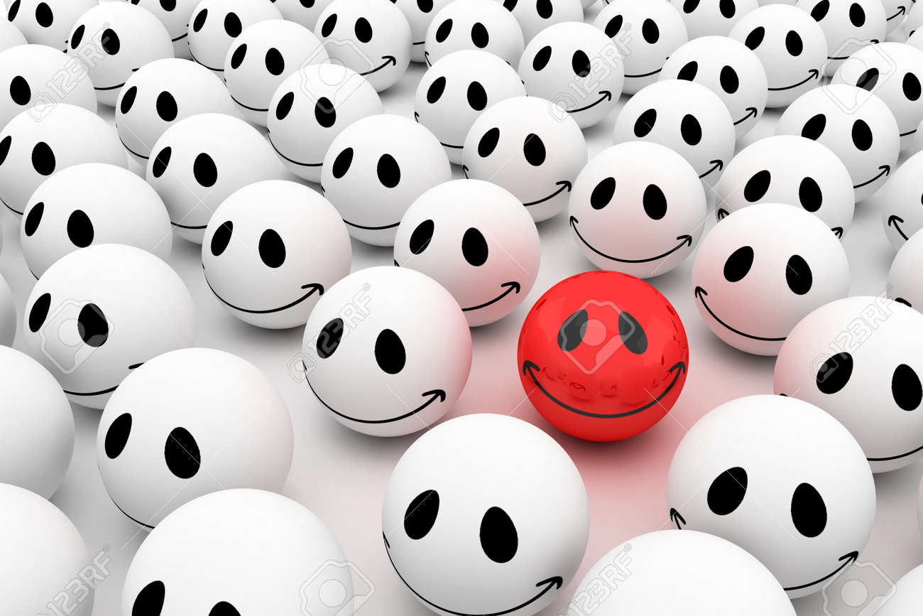 Isolated glossy 3d standard smiling smileys Stock Photo - 11395316