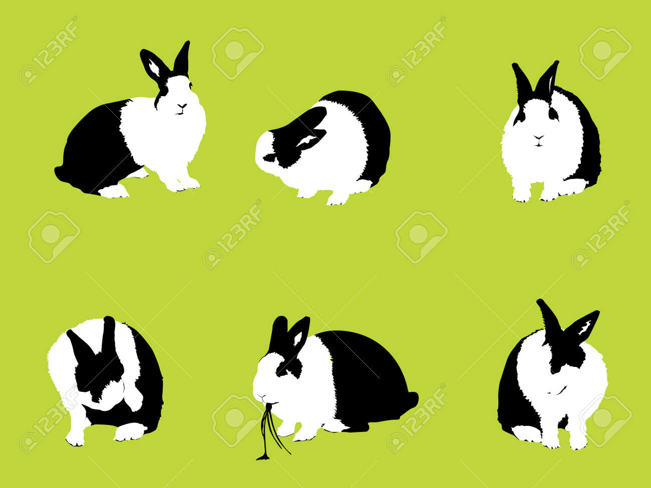 Easter Bunny, vector collection for designers Stock Vector - 4011762