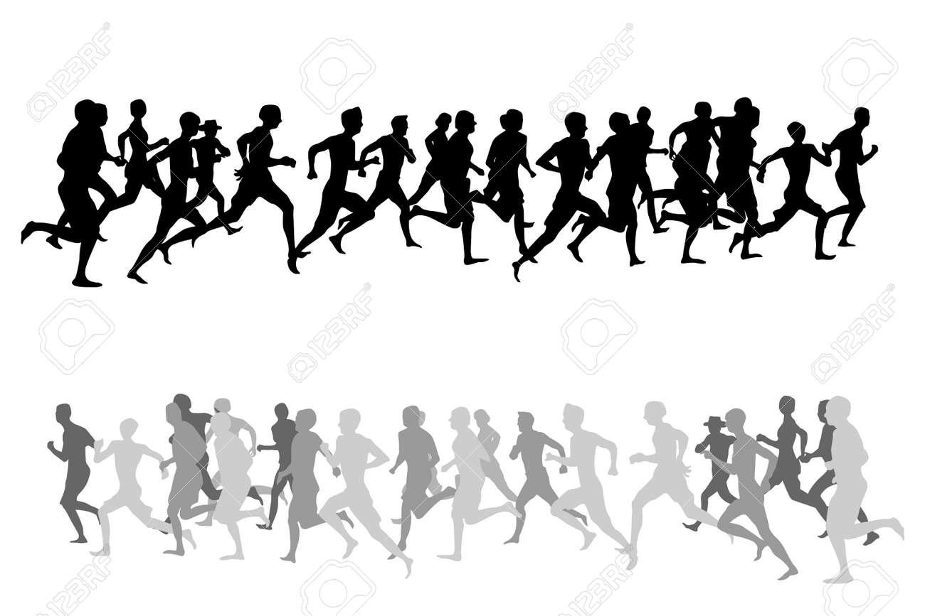 vector illustration of running people royalty free cliparts vectors rh 123rf com Pregnant Woman Running someone running clipart