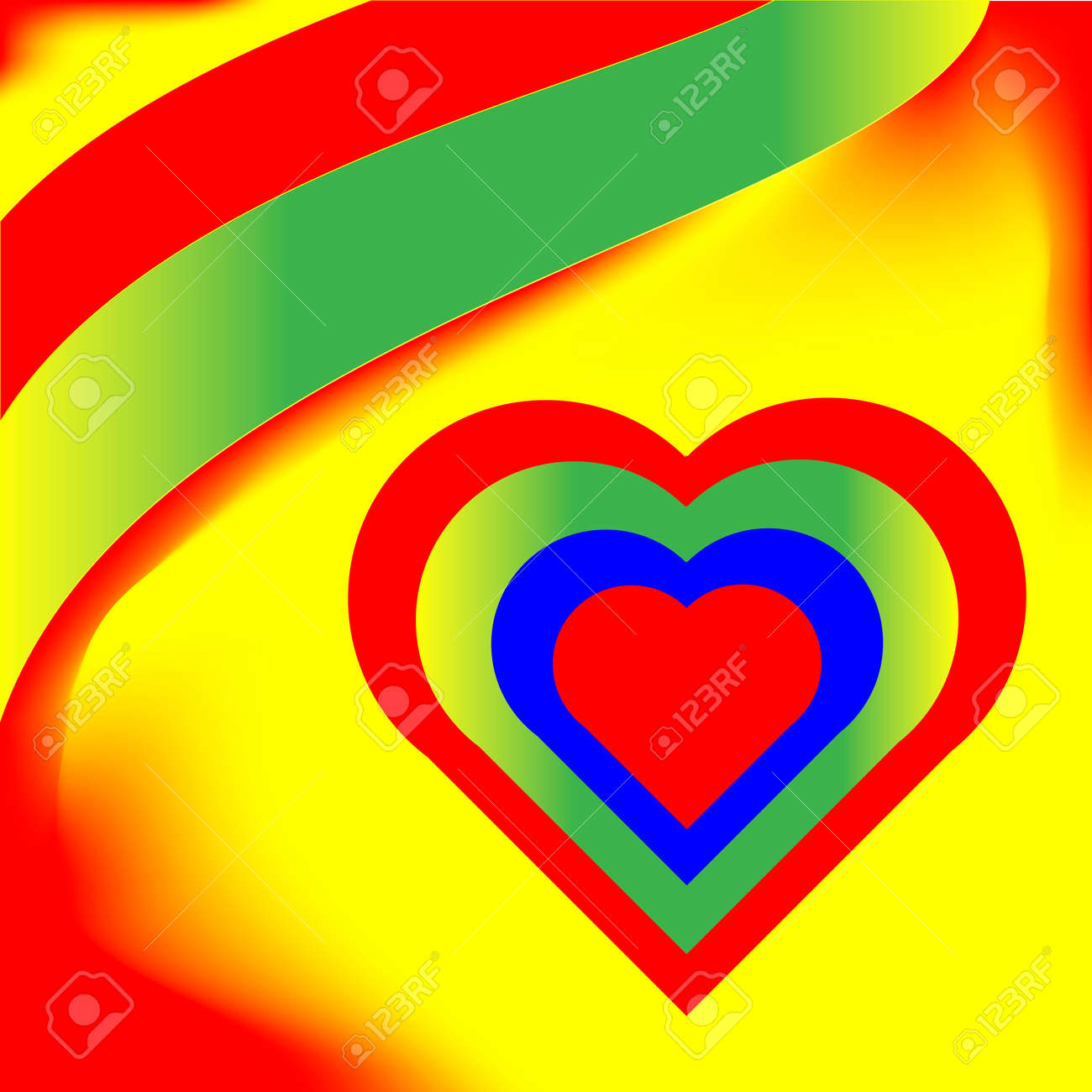 vibrant colorful abstract  heart  vector Stock Vector - 4147529