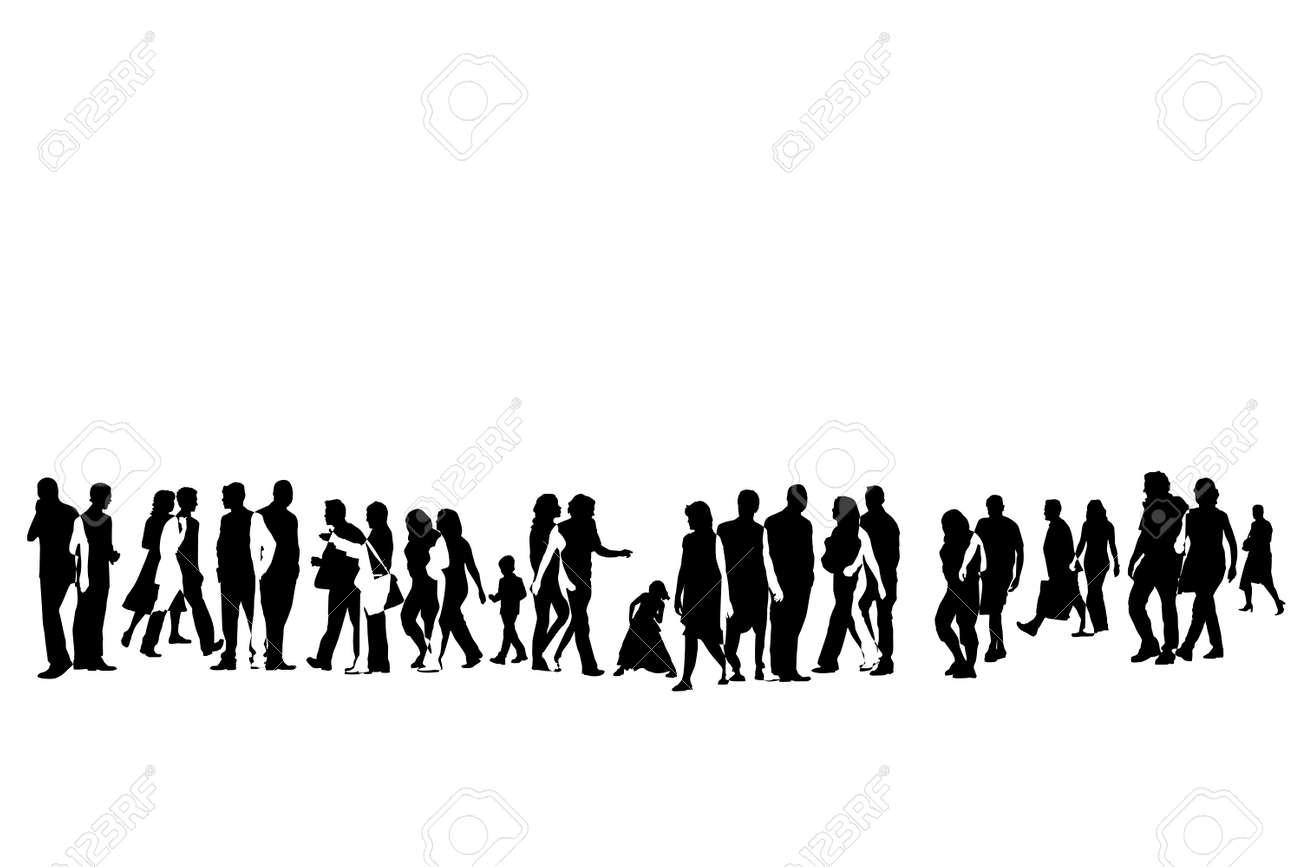 illustration of urban crowd Stock Vector - 4327647