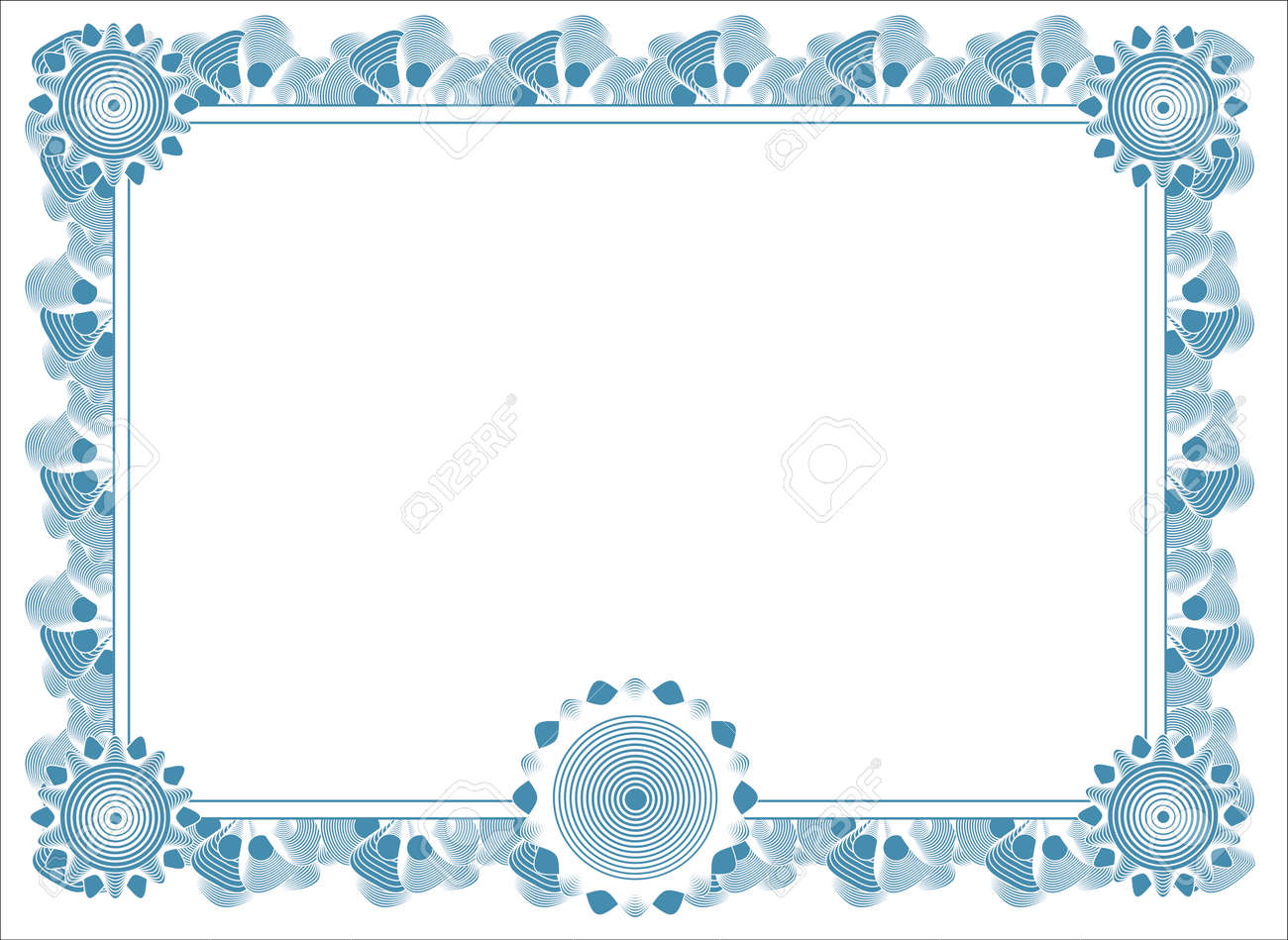 blank diploma template Stock Vector - 4344918