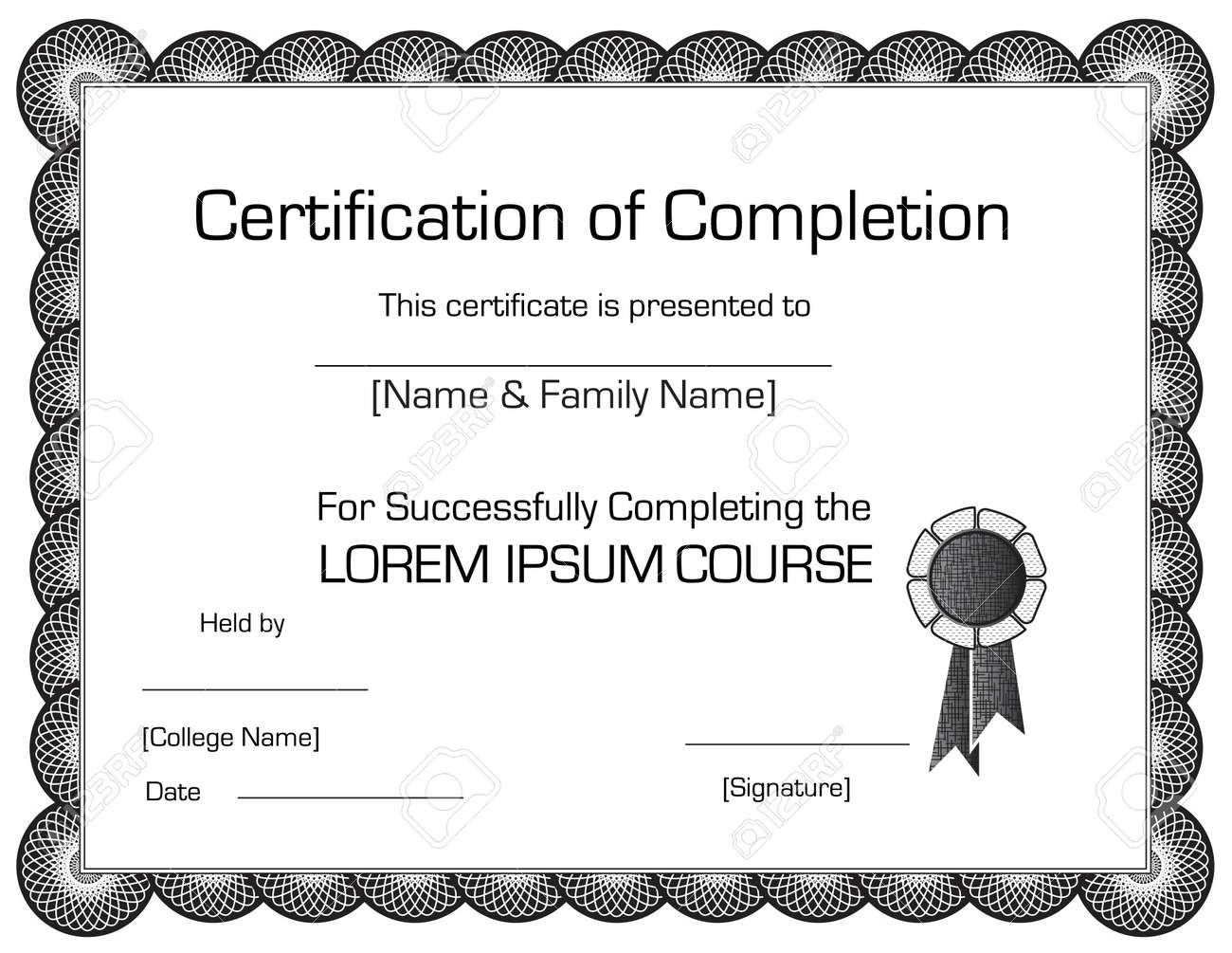 Free templates for certificates of completion printable movie 12 certificate of completion template email with resume sample 7344771 elegant certificate of completion template stock yadclub Choice Image