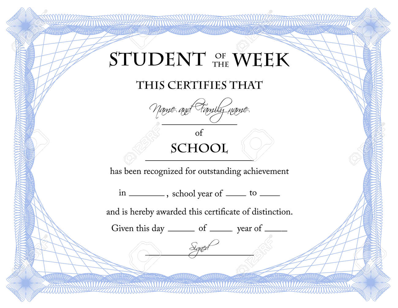 Student of the week certificate royalty free cliparts vectors student of the week certificate stock vector 7475095 xflitez Choice Image