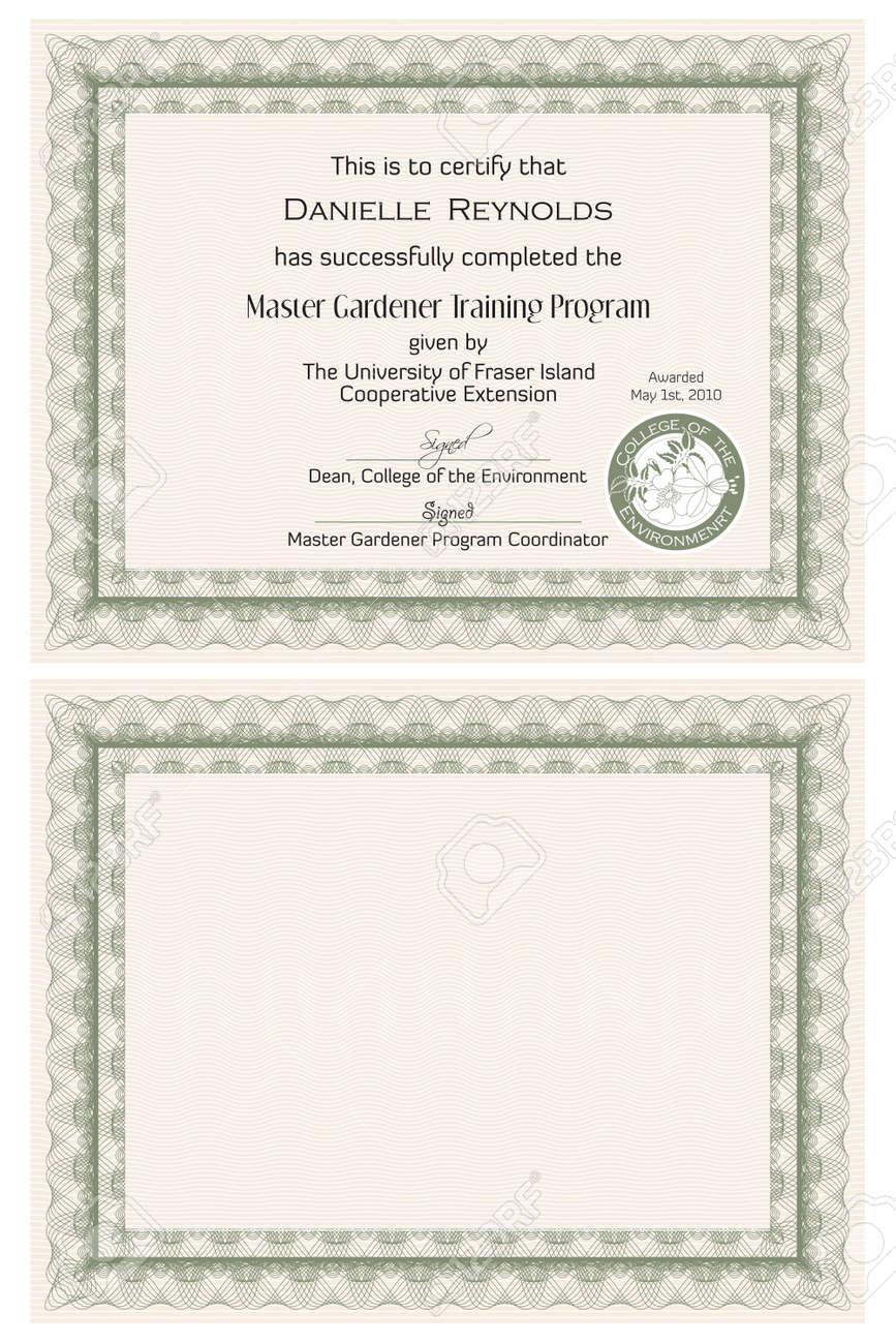 Training certification template free ticket templates for training certificate templates stock raytheon security officer 7524549 master gardener certificate template stock vector certification yadclub Images