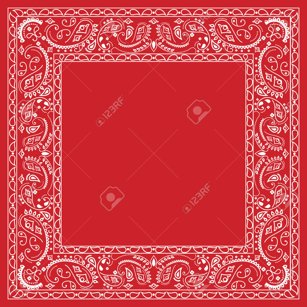 Red bandana design Stock Vector - 9549002