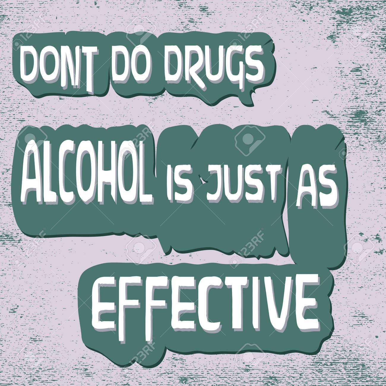 Funny Warning-Don't do Drugs Stock Vector - 9865133
