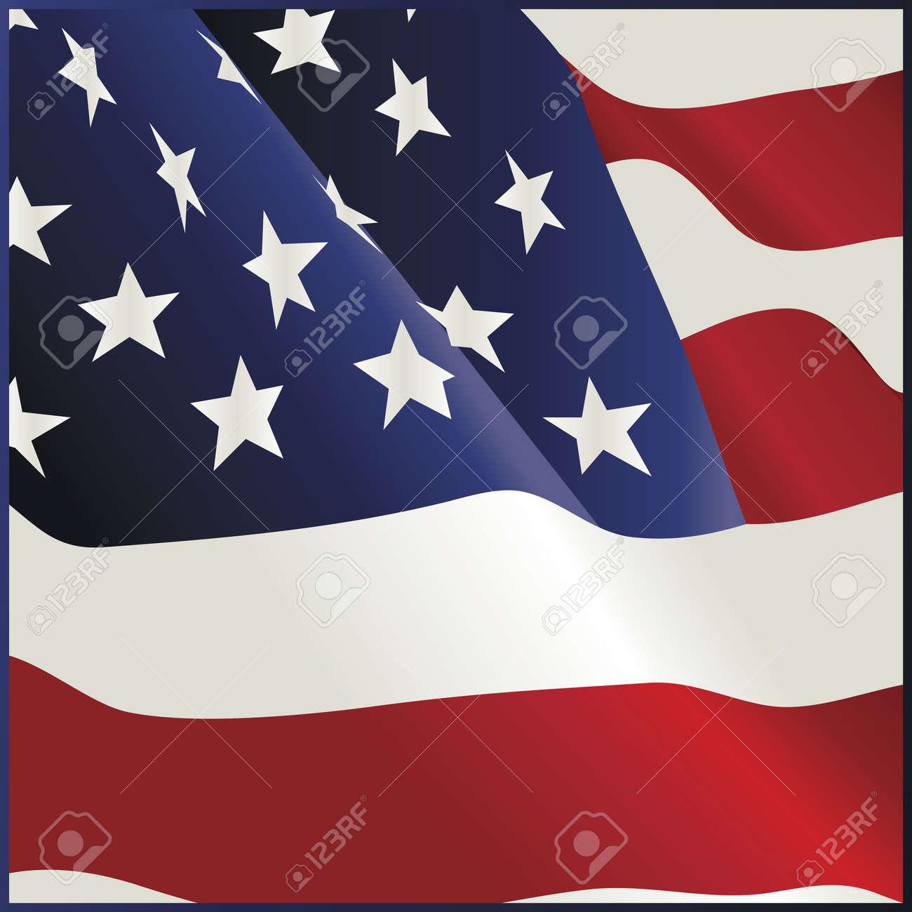 Waving American Flag Bandana Design Stock Vector - 10050127