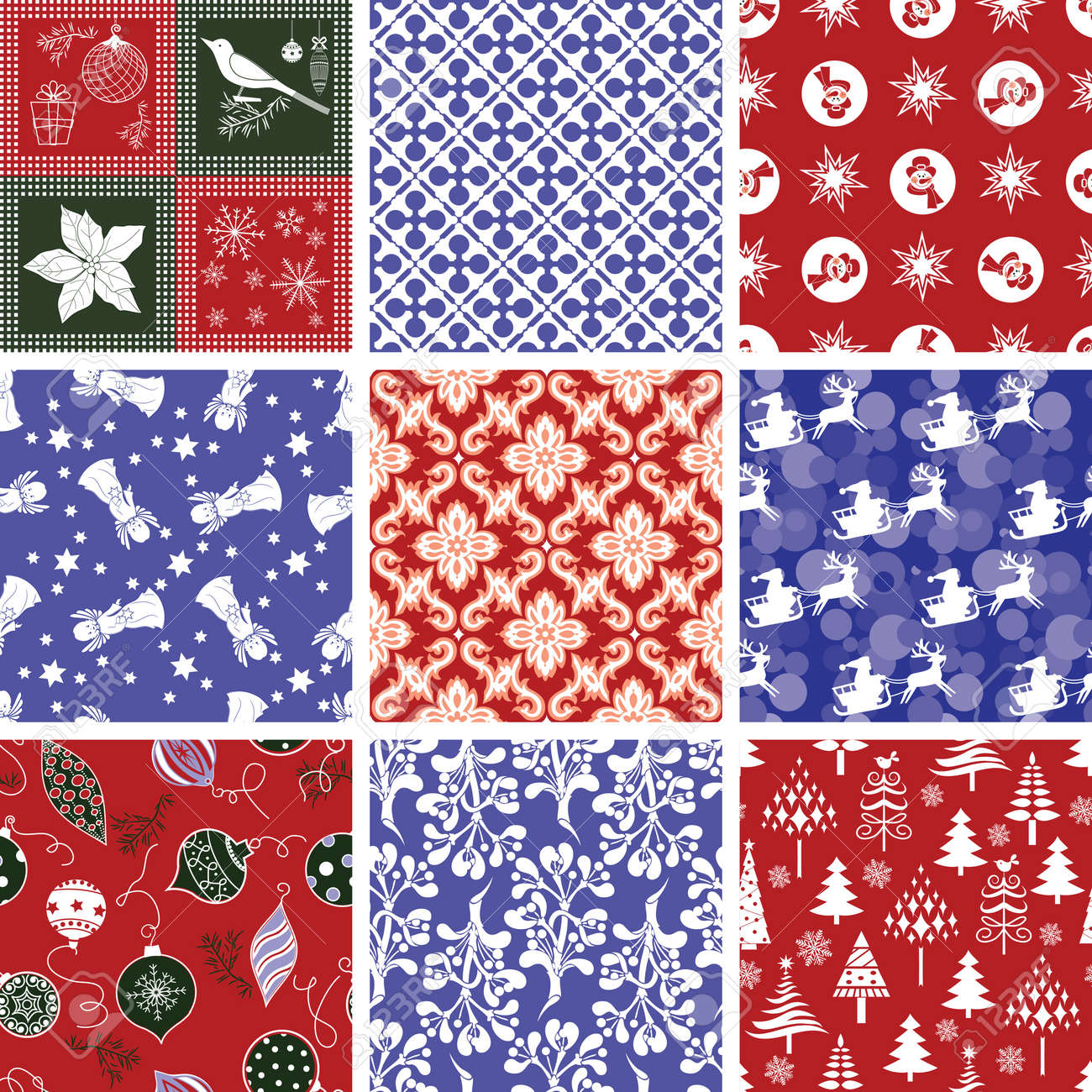 Set of Christmas Repeating Patterns - 10282673