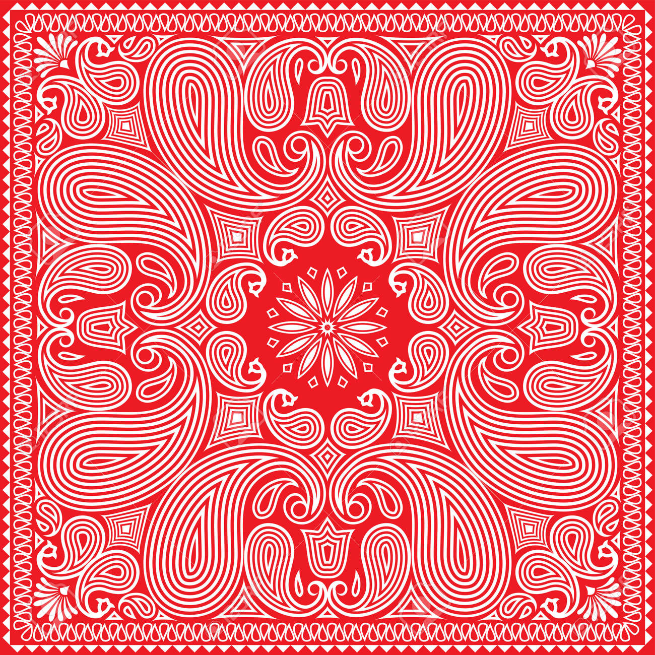 Red Bandana Design Stock Vector - 10360267