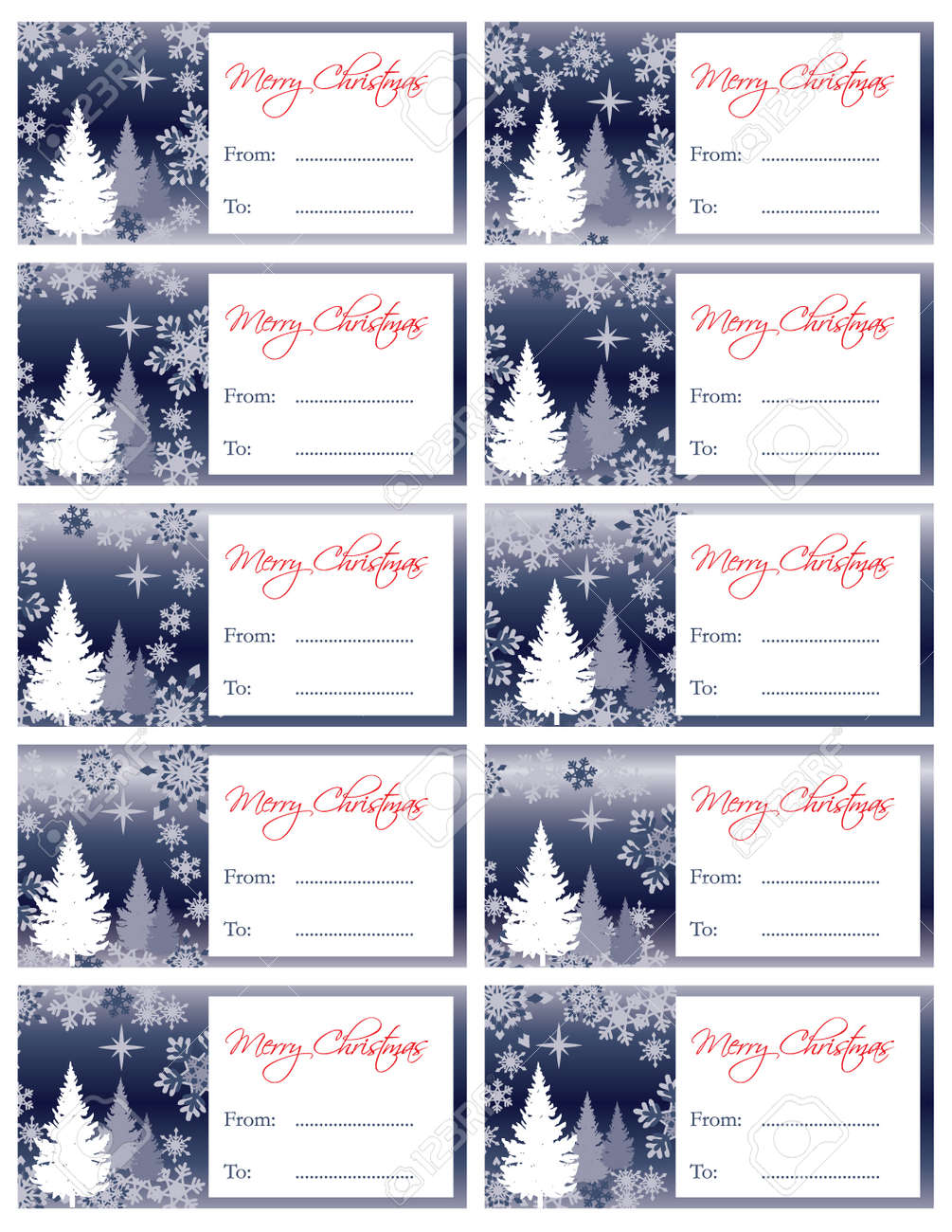 Matching Holiday Gift Tags Collection Stock Vector - 10946070