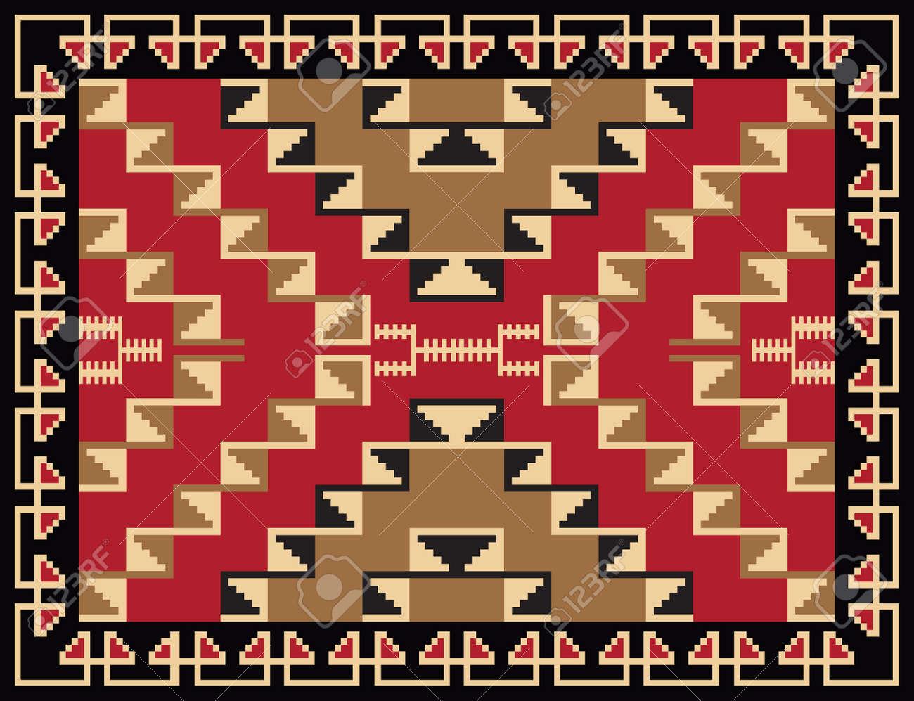 Ethnic Rug Pattern Design Stock Vector - 10946073