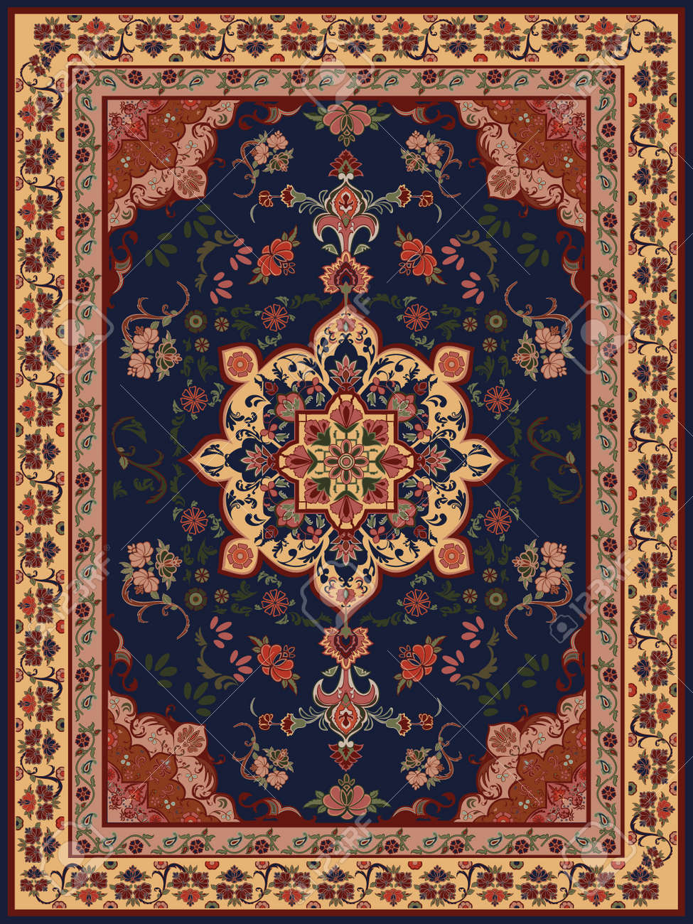 Carpet Design Captivating Oriental Floral Carpet Design Royalty Free Cliparts Vectors And . Design Inspiration