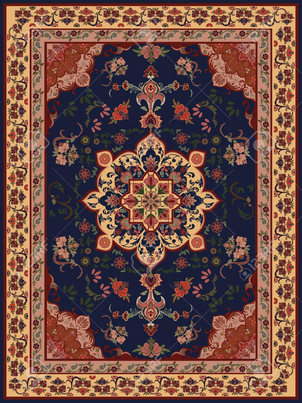 oriental floral carpet design stock vector 11431921 carpet pattern background home
