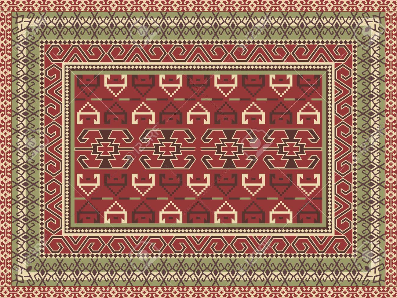 Traditional oriental carpet Stock Vector - 11431923