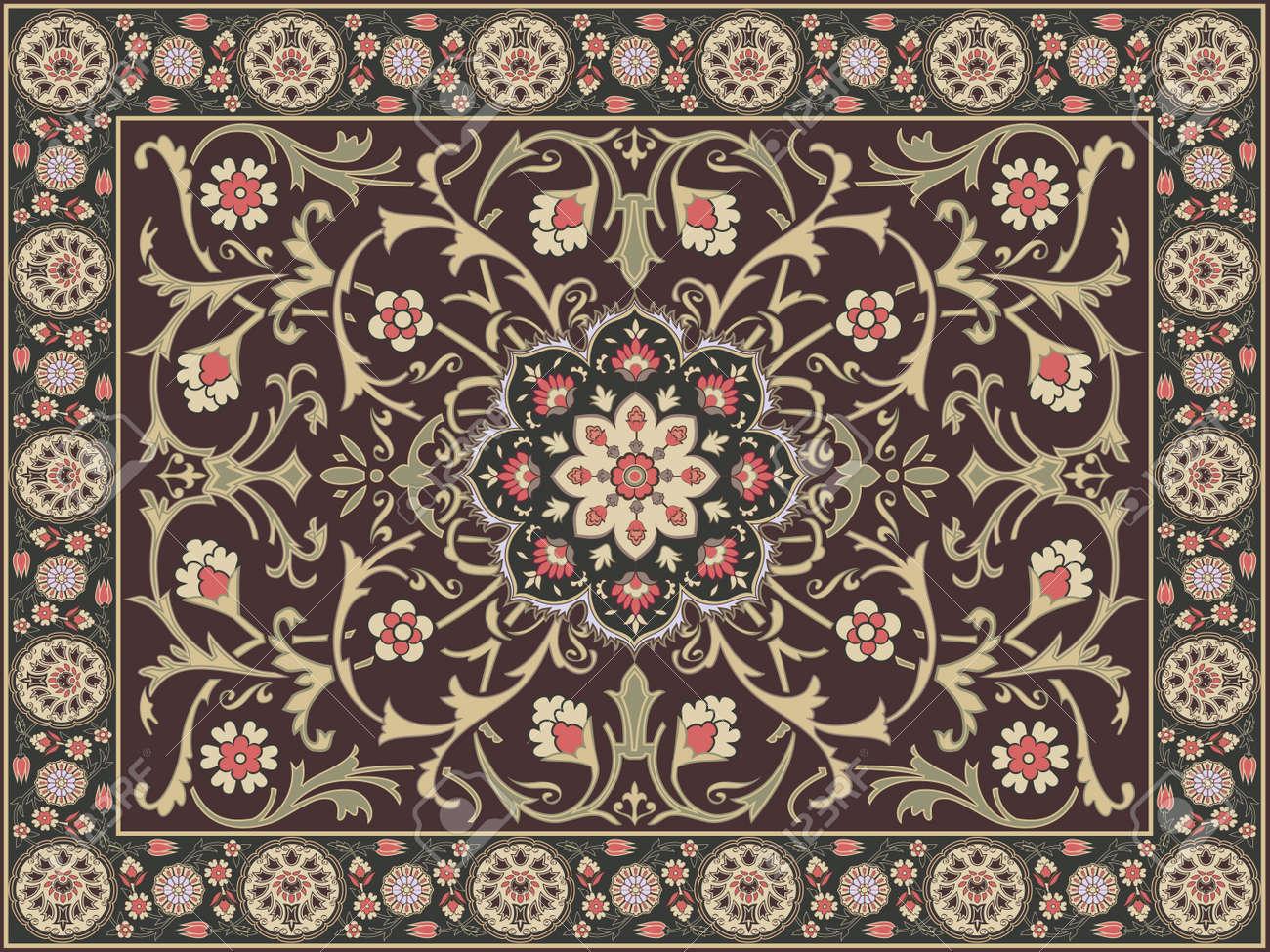 In Stile Arabo Di Tappeti Di Design Clipart Royalty-free, Vettori ...