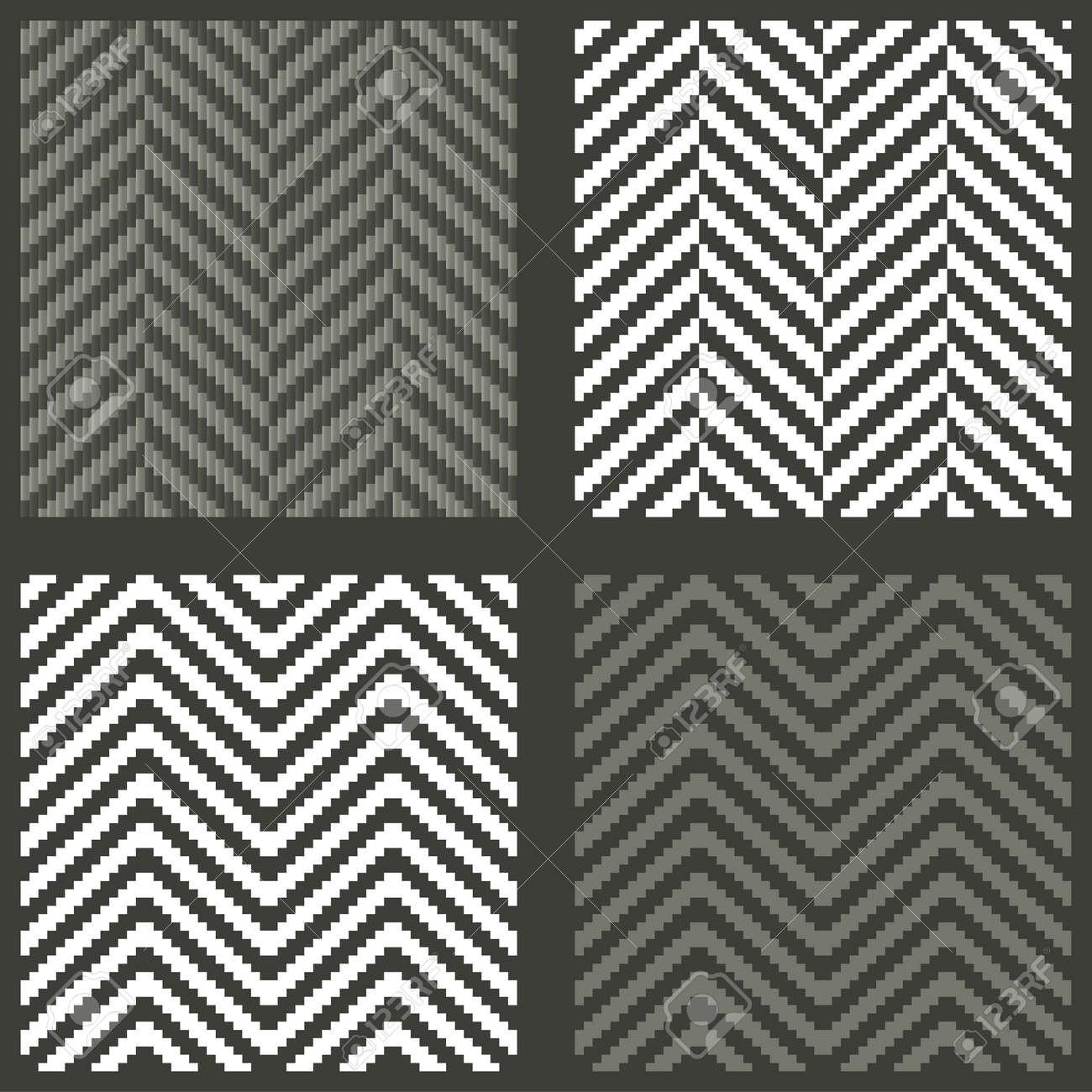 4 seamless swatches with lambdoidal herringbone patterns Stock Vector - 14535070
