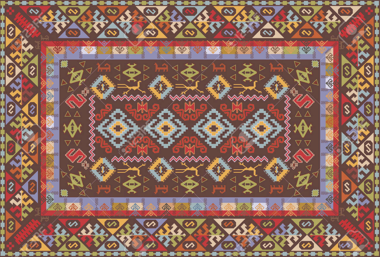 5741 persian carpet design cliparts stock vector and royalty persian carpet design oriental nomadic type carpet design illustration baanklon Choice Image