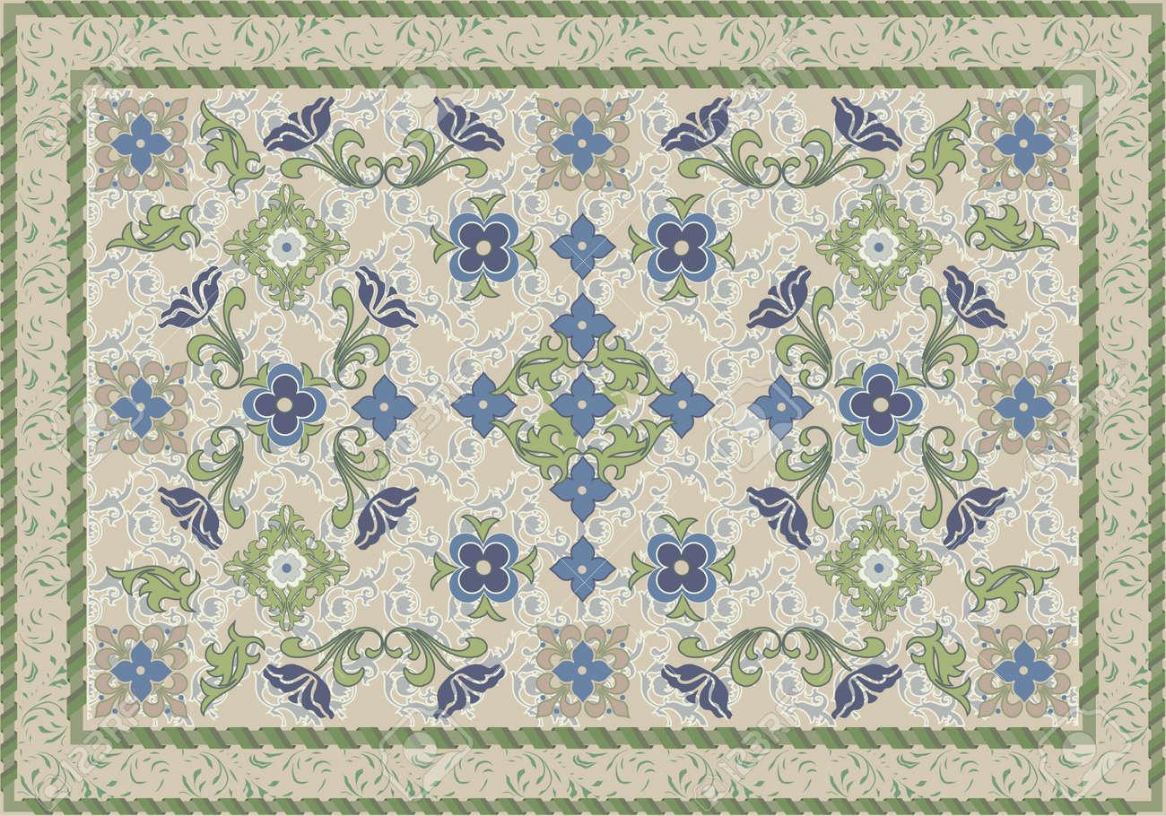 Vintage style floral and leafy carpet design royalty free cliparts vintage style floral and leafy carpet design stock vector 14988528 baanklon Choice Image