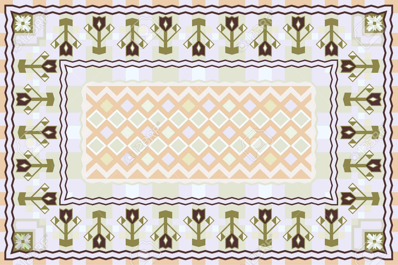 Spring Garden, Modern Carpet Design Stock Vector - 16011192