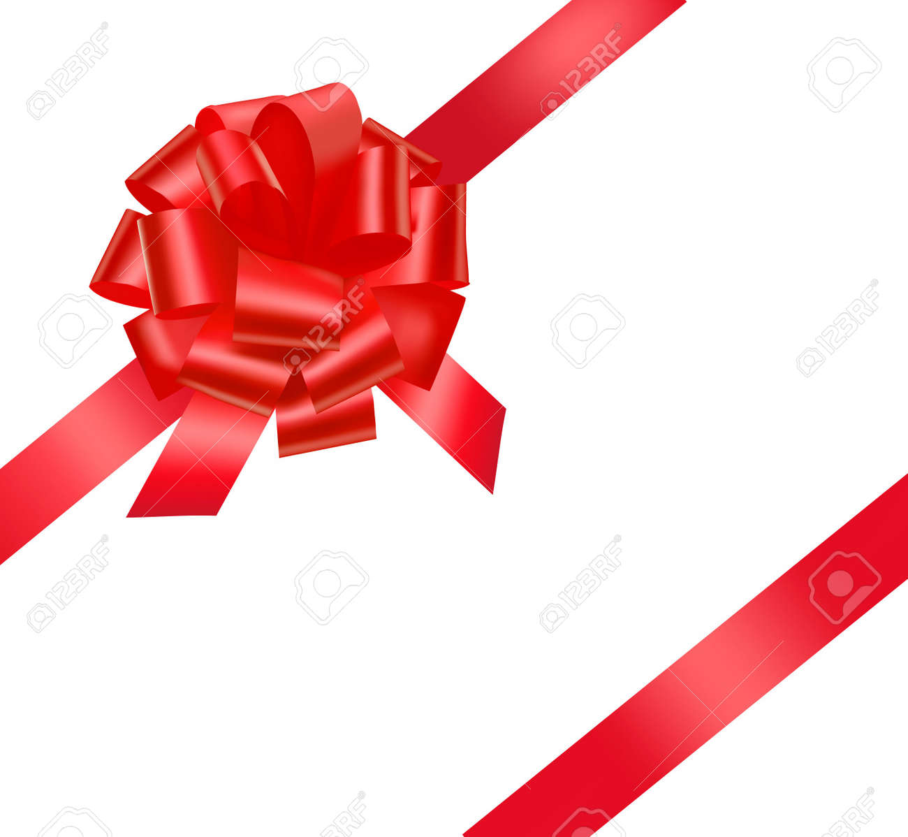Beautiful red gift bow. - 9934322