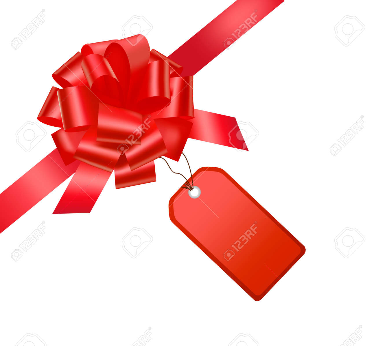 Gift red ribbon and bow with card gift red ribbon and bow with card 9934321 negle Choice Image