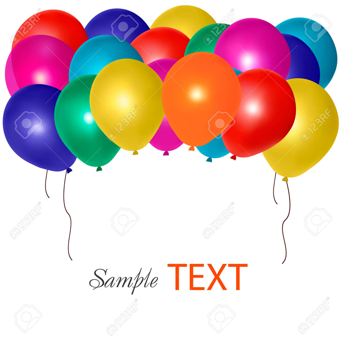 balloons frame composition with space for your text vector illustration stock vector 10017307