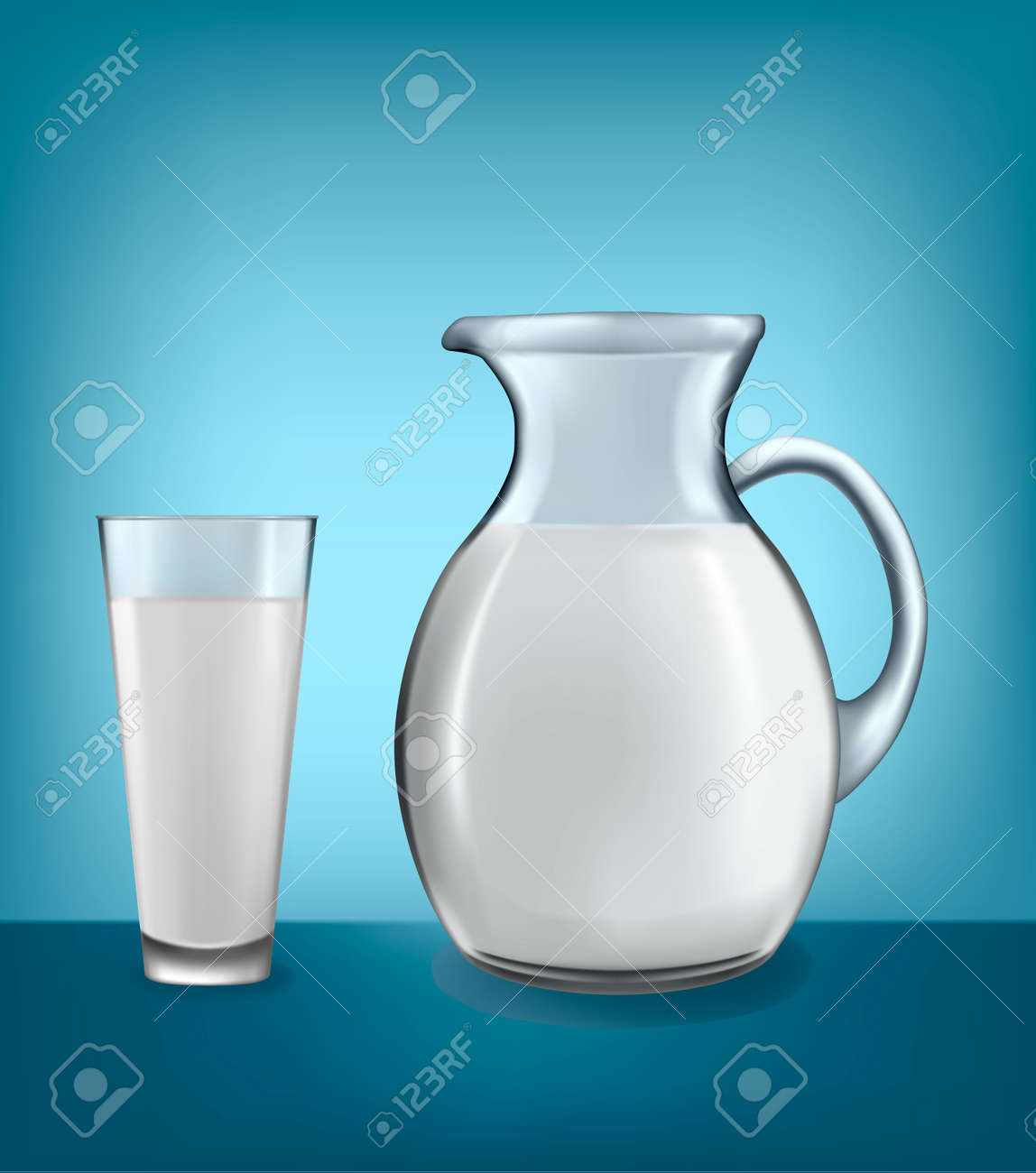 Milchkännchen Glas jug and glass of vector royalty free cliparts vectors