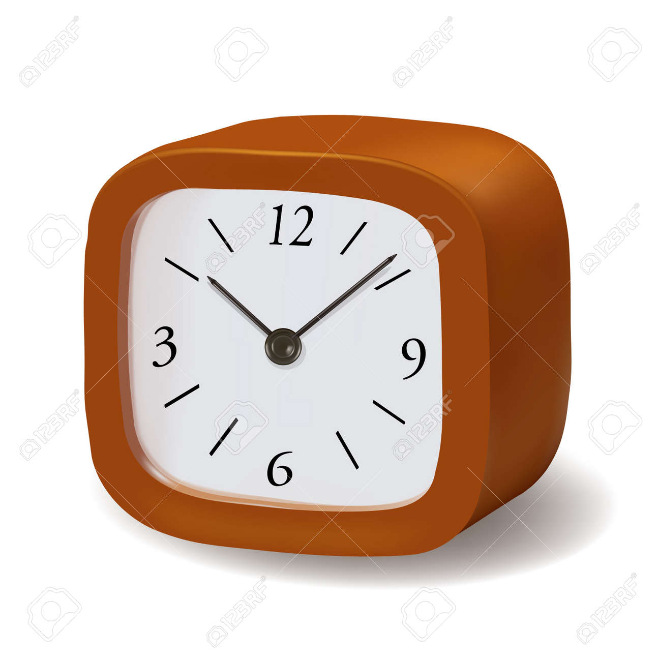 fashioned clock isolated on a white background. Vector. Stock Vector - 10105295