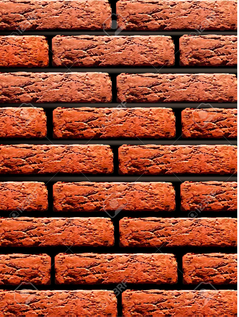 Red brick wall background. Vector illustration. Stock Vector - 10377770