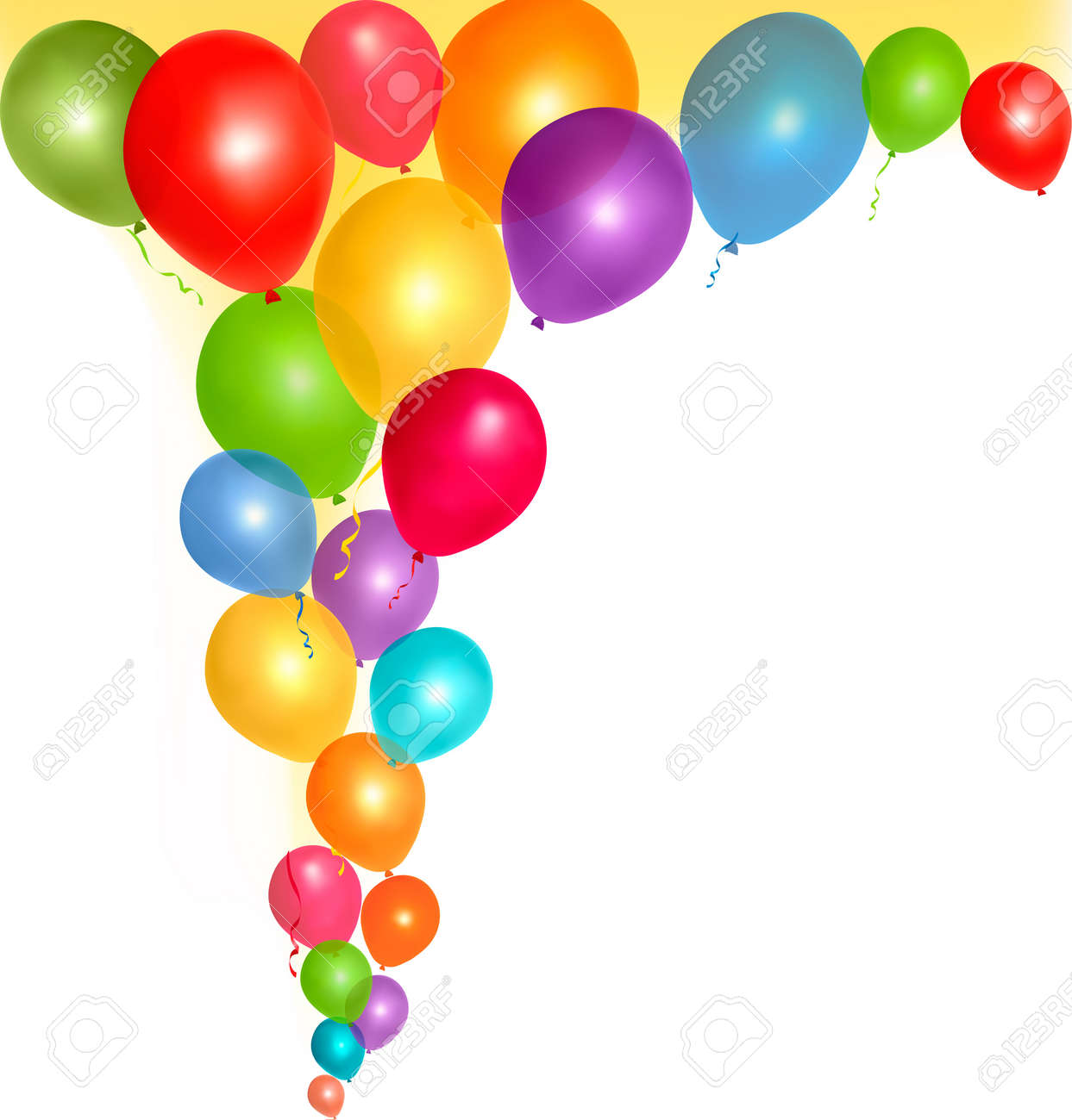 balloons frame composition with space for your text vector illustration stock vector 12963665