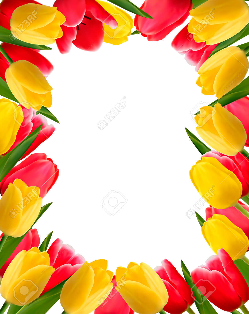 Colorful Spring Flower Background Royalty Free Cliparts Vectors