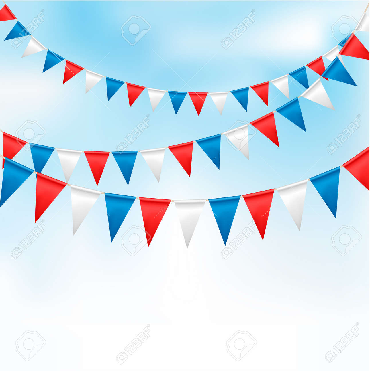 Holiday background with birthday flags Stock Vector - 13749476