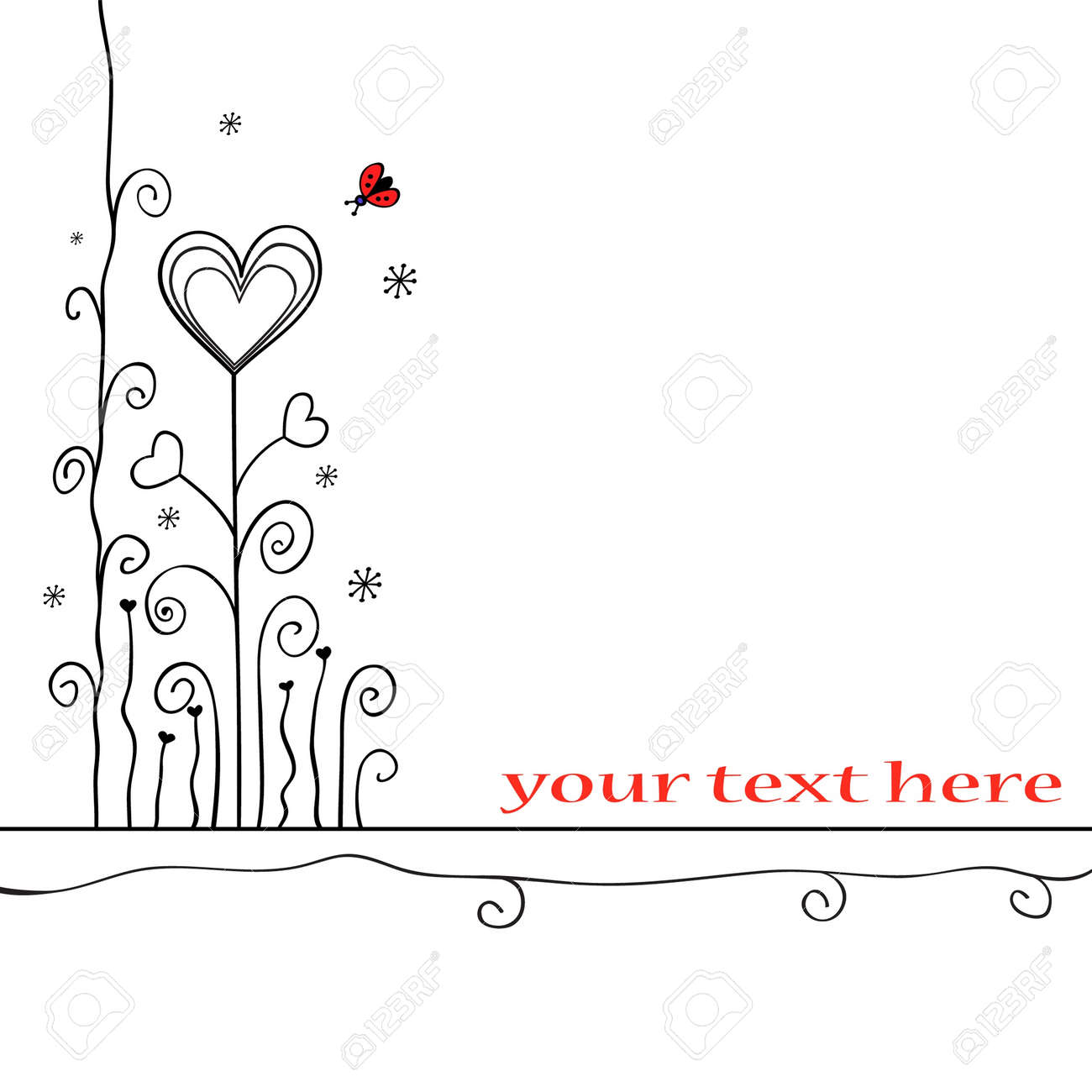Hand-drawn love card Stock Vector - 10632667