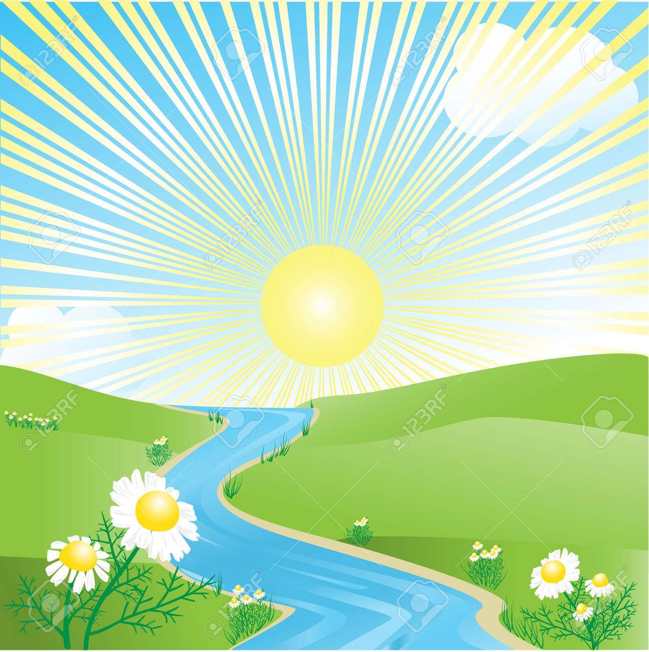 Summer landscape Stock Vector - 10766458