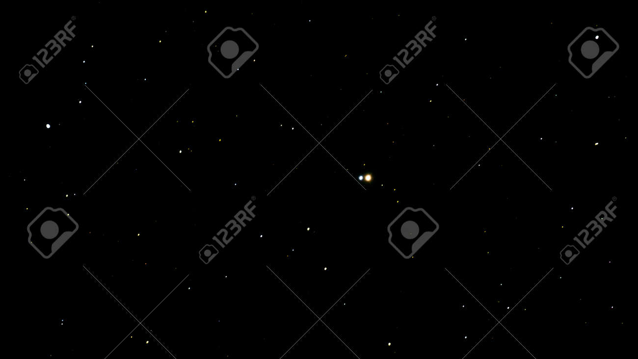 Albireo Star Beta Cygnus, is a double star, topaz yellow and sapphire blue star situated in the beak of the Swan constellation. - 45828820