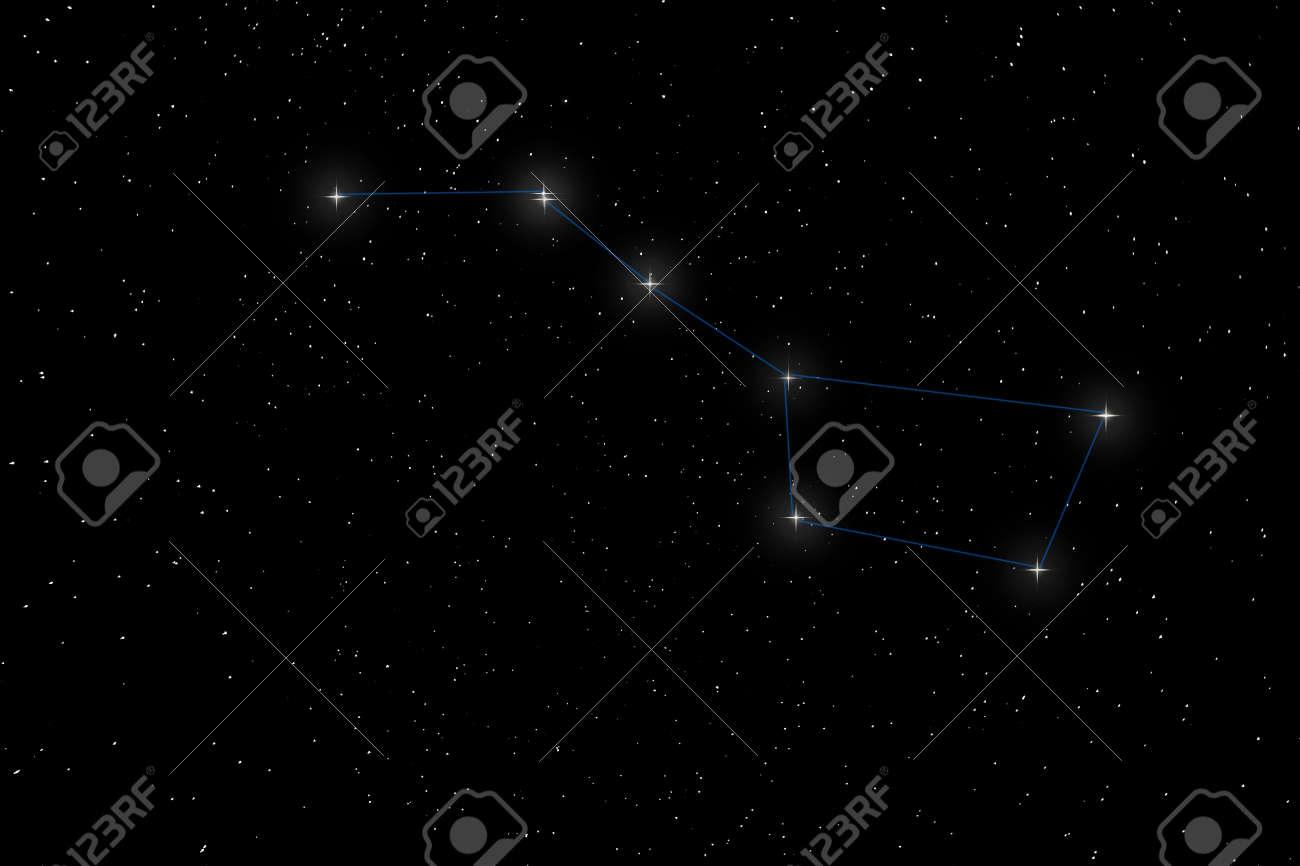 Big Dipper Constellation, Ursa Major, The Great Bear - 54777155